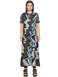 M Missoni Cotton Lurex Zig Zag Knit Dress