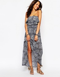 Hollister Strapless Peasant Maxi Dress Multi