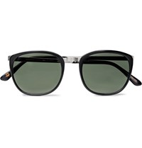 Moscot Brude D Frame Acetate And Silver Tone Sunglasses Black