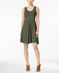 Styleandco. Style And Co. Chevron Striped A Line Dress Only At Macy's Stripe Olive
