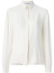 Christian Dior Vintage Crepe Shirt Nude And Neutrals