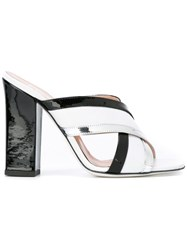 Pollini Chunky Heel Sandals Black