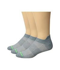Wrightsock Cool Mesh Ii 3 Pack Steel Grey Crew Cut Socks Shoes Gray