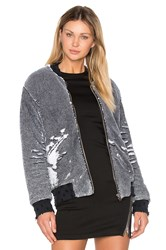 Iro Amaia Sequin Bomber Jacket Black And White