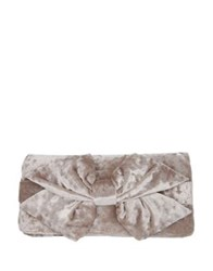 Nina Alorah Knotted Convertible Clutch Champagne