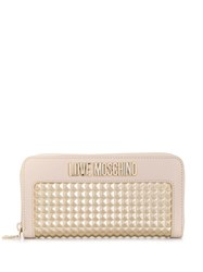 Love Moschino Logo Studded Wallet Pink