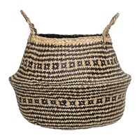 Bloomingville Seagrass Basket Black Nature 40X30cm