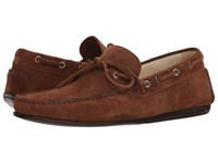 Canali Perforated Moccasin Brown Shoes