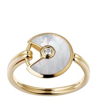 Cartier Extra Small Yellow Gold And Mother Of Pearl Amulette De Ring Multi
