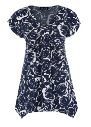 Grace Made In Britain Floral Tunic Navy