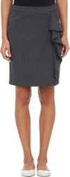 Barneys New York Ruffle Pencil Skirt Black