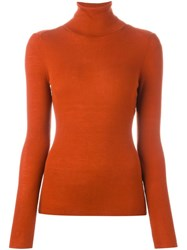 Vanessa Bruno Turtle Neck Sweater Yellow And Orange