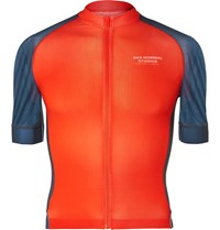 Pas Normal Studios Solitude Mesh Panelled Zip Up Cycling Jersey Blue