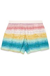 Missoni Mare Crochet Knit Shorts White Gbp