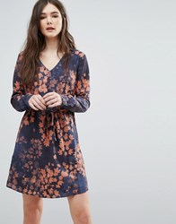 Lavand Faded Floral Dress Db Multi