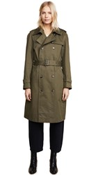 Anine Bing Military Trench Coat Army Green