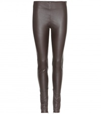 Balenciaga Leather Leggings Brown