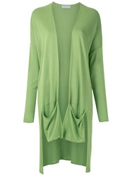 Mara Mac Front Pockets Knit Cardigan Green