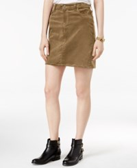 Tommy Hilfiger Corduroy Mini Skirt Tobacco