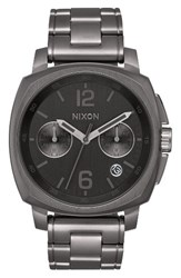 Nixon Men's Charger Chronograph Bracelet Watch 42Mm Gunmetal