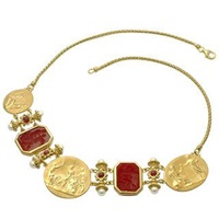 Tagliamonte Classics Collection 18K Gold And Ruby Necklace