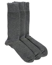 Gant 3 Pair Pack Of Charcoal Socks