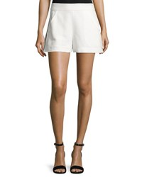 Veronica Beard Blair Jacquard Shorts Off White