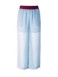 I'm Isola Marras Sheer Polka Dots Trousers Blue