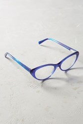 Anthropologie Miss Kitty Reading Glasses Blue