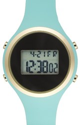 Titanium Women's Lcd Silicone Strap Watch 39Mm Mint Green