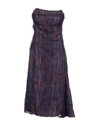 Amaya Arzuaga Knee Length Dresses Blue