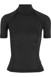Alexander Wang T By Stretch Jersey Swim Top Black