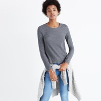Madewell Sound Ribbed Crewneck Tee Hthr Anchor