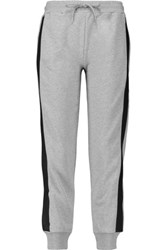 Mcq By Alexander Mcqueen Paneled Cotton Jersey Track Pants Gray