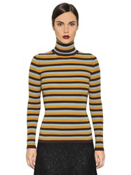I'm Isola Marras Striped Wool Knit Turtleneck Sweater