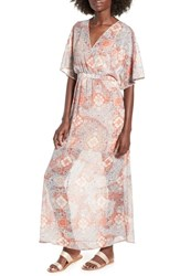 Love Fire Chiffon Maxi Dress Blush Paisley