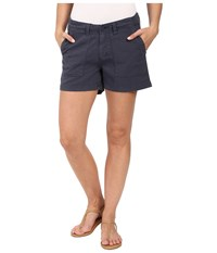 Dylan By True Grit Effortless Stretch Cotton Classic Cargo Shorts Navy Women's Shorts