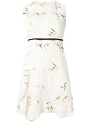 Giambattista Valli Floral Embroidered Sleeveless Dress Nude And Neutrals