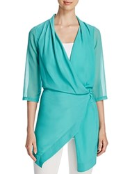 Finity Draped Wrap Tunic Turquoise