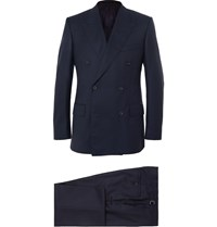 Kingsman Navy Harry Slim Fit Super 120S Wool And Cashmere Blend Suit Blue
