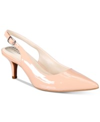 Alfani Women's Babbsy Pointed Toe Slingback Pumps Only At Macy's Women's Shoes Blush