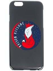 Maison Kitsune Logo Print Iphone 6 Case Grey