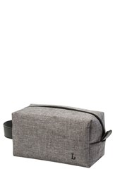 Cathy's Concepts Monogram Dopp Travel Kit Grey L