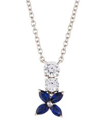 Fantasia Flower Pendant Necklace White