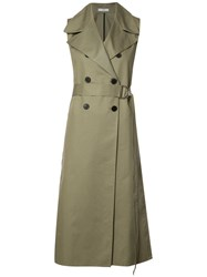 Tome 'Sleeveless Belted' Trench Nude Neutrals