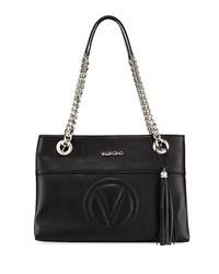 Valentino By Mario Valentino Karina Sauvage Leather Tote Bag Black
