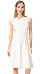 Lela Rose Fit And Flare Knit Dress White