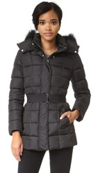 Add Down Jacket With Fur Black