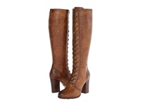 Frye Parker Tall Lace Up Tan Antique Pull Up Women's Lace Up Boots Bronze