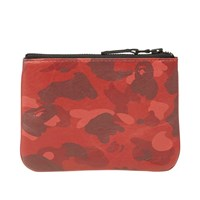 A Bathing Ape Colour Camo Wallet Red